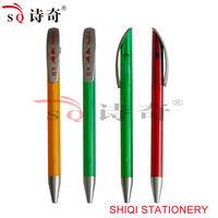 Plastic Advertising Twist Ball Pen With Big Clip(SQ1219)