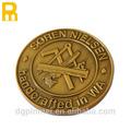 el color de oro de la galjanoplastia de antigüedades de metal de la moneda proveedor