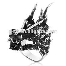 Cool Retro Dragon Rings 316L Stainless Steel Man Rings