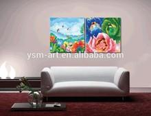 digital picture print on canvas cartoon artwork