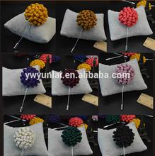 Stock felt flower men's lapel pin,brooch metal crafts for men