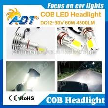 New arrival! 60W 4500lm COB LED Headlight, 9005 HB3 9006 HB4 three sides auto COB led headlight Fog Daytime Running Light White