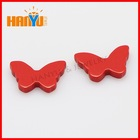 Butterfly shape synthetic red turquoise