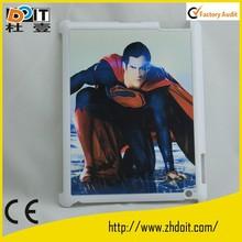 fashion design for ipad2/3/4 PC case,2D plastic case for ipad