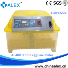 best plastic material AI-48II breed reptile egg incubator for sale