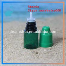 plastic pet lemon juice bottle round green 5ml