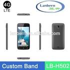 Customized Band MTK6582 ODM factory GMS License g-sensor GPS custom unlock code cell phone LB-H502