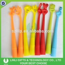 Finger Style Logo Rubber Bend Pen