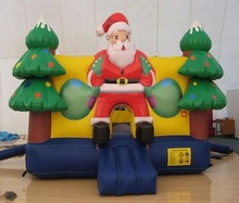 Hot sale! Christmas theme inflatable bouncer, bouncy castle for kids