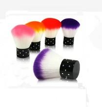 Colorful kabuki makeup brush set with makeup brush in case