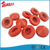 Custom made silicone rubber end caps for pipe factory direct outlet manufacture directly supply Red rubber cap