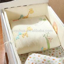 Factory Yuhua baby crib bumper bedding