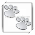 customized car plastic badge emblems sticker abs emblems chrome footprints emblems
