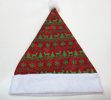 2015 New Design Christmas Hat for Adults,Felt Christmas Hat Santa Caps,Promotions for Christmas Party Decoration X'mas Hats