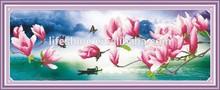"""Magnolia of dreamworld"" New 5D round crystal diy diamond painting"