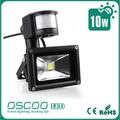 IP 65 10w luce di inondazione ha portato con sensore di illuminazione per esterni con impermeabile