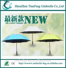Various colors for choose Golf umbrella with fiberglass ribs single layer