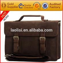 vintage pu leather men handbag 13 inch laptop bag bussiness men bag