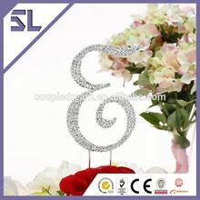 Monogram Gold Cake Topper Initial Letter Monogram Personalized Wedding Crystal Rhinestone Cake Rhinestone Accessories