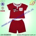 Jianer nueva llegada 100% de algodón barato de verano los niños ropa 2 piezas de ropa de chico