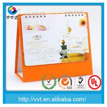 Folding desk calendar 2014 spiral bound calendar