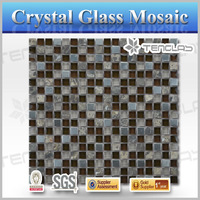 Top sale 8MM aluminum glass and decorate mosaic vase