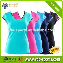 Ladies Promotional Wholesale Short Jogging Shirt