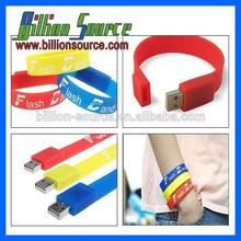 silicon wristband usb 2g with quality warranty