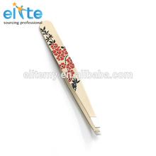 2014 new Anti-Static eyelash Extension Tweezers/rice white with flower variety of Type Eyebrow Tweezers