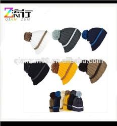Winter Warm Knit Beanies wih Top Ball
