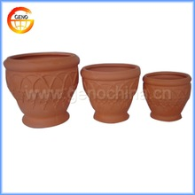 natural colour terracotta flower pot