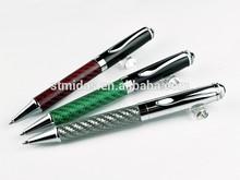 fancy write pen luxury ball pen, metal carbon fibler pen