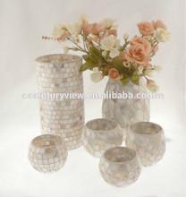 Wholesale tea light glass vases tealight cup