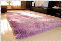modern design children living room Plain Color Stretch Yarn shaggy carpet