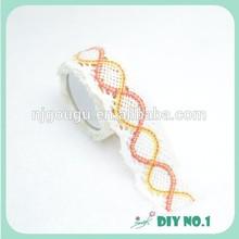 Popular Custom cotton Fabric Lace Tape ribbon tape