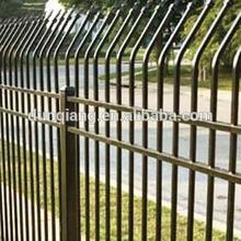 Welded steel picket fence/spear top wrought iron ornamental fence