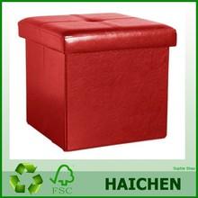 square storage box S141104-10/leather round storage box/Storage stool
