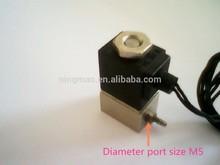 small size micro solenoid valves china 2V010-M5, Aluminum body,Orifice 1mm ,port siaze M5,NMPC Brand name