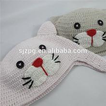 children hand crochet wine bottle santa hat & scarf