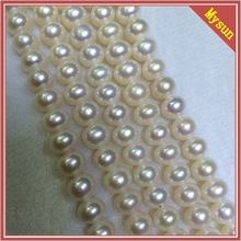 7-7.5MMbest quality Round pearls wholesale semi-finished necklace