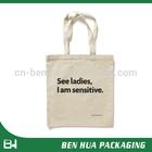 Hot Sale Printing Logo Bag Cotton Natural Canvas Shopping