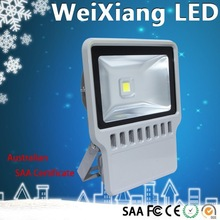 TOP quality used outdoor CE ROHS SAA 100w lamp epistar/bridgelux led floodlight ip65 replacement 500w halogen led spotlight