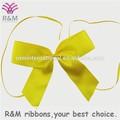 Amarelo promocional pré tie fita de cetim bow