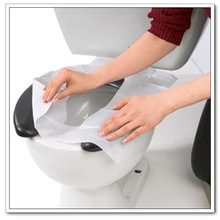 Flushable Toilet seat cover paper