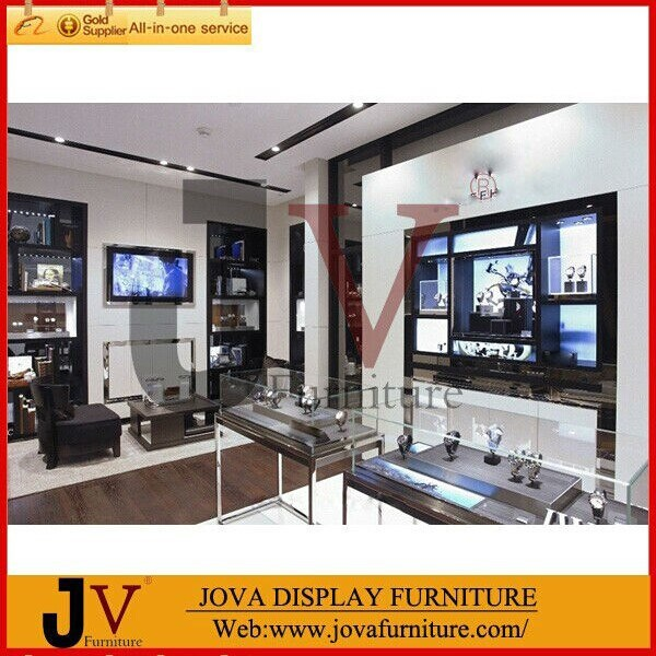 ... Luxury jewellery showroom interior design with shop dispaly furniture