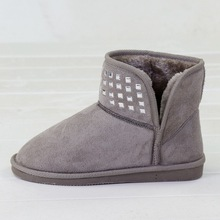 2014 women plush rhinestone snow boots