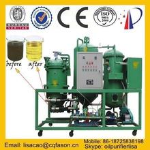 Newest design no consumption replacement waste oil filtration plant