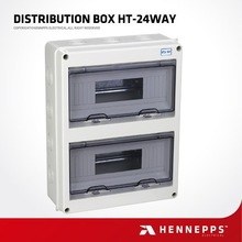 Hennepps IP65 Electrical Waterproof Portable Power Distribution Box