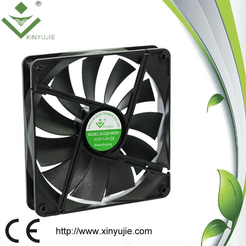 Shenzhen xinyujie xj14025h yüksek hava akışı fan kaidesi fan hava