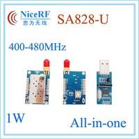 1W 5km distance SA828-U uhf transceiver module 400MHz to 480MHz